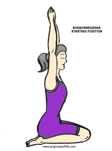 Shashankasana - Starting Pose