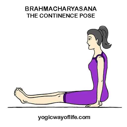 rahmacharyasana - Continence Pose