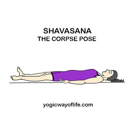Shavasana (Corpse Pose) - Yoga Asana for Relaxation | Yogic Way Of ...