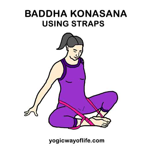 Baddha Konasana with Yoga Straps - Bound Angle Pose