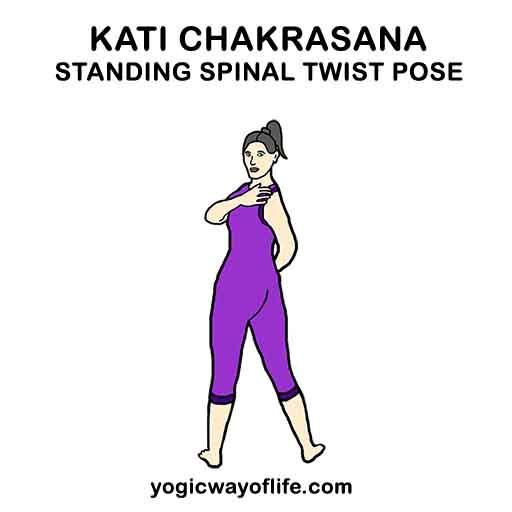 Kati Chakrasana - Standing Spinal Twist Pose
